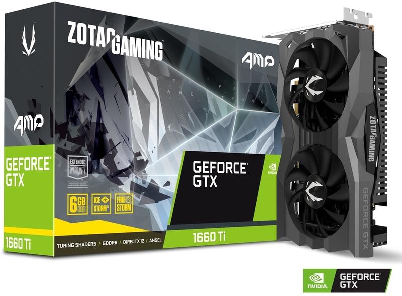 Gráfica ZOTAC GeForce® GTX 1660 Ti AMP Edition 6GB GD6